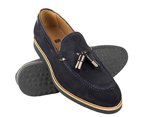 Zerimar Zapatos Castellanos Hombre   Mocasin Antifaz Hombre   Mocasin con Borlas para Hombre