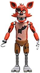 """From the hit game Five Nights at Freddy's, Foxy, as a 5"""" articulated vinyl action figure from Funko! Figure stands 5 inches and comes on a card with a window display box. Check out the other Five Nights at Freddy's figures from Funko! Collect all fiv..."""
