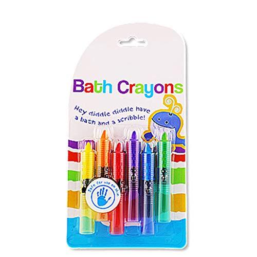 Briefpapier, Badkamer Kleurpotloden Baby Putter Badkamer Graffiti Kleurpotloden Wassen Kleur Niet-toxisch Milieubescherming Badspeelgoed Kinderen Pennenset, 6 stuks