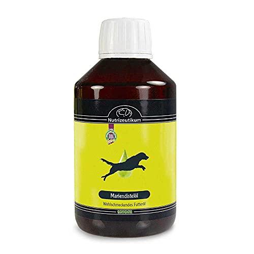 Huile de chardon-marie - 250 ml - Pour chiens - Soutient les fonctions du foie et apaise la peau.