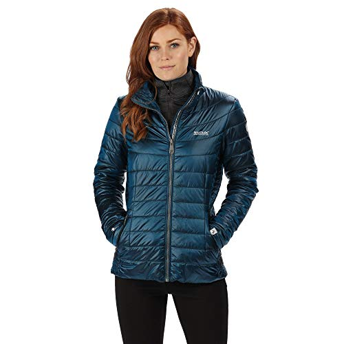 Regatta Damen Womens Metallia II Lightweight Water Repellent Down-Touch Atomlight Insulated Puffa Jacket Steppjacken, blau (Petrol Blue), 40