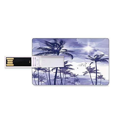 64GB Unidades Flash USB Flash Oceano Forma de Tarjeta de crédito bancaria Clave Comercial U Disco de Almacenamiento Memory Stick Palmeras Tropicales exóticas Altas en Beverly Hills Puesta de S