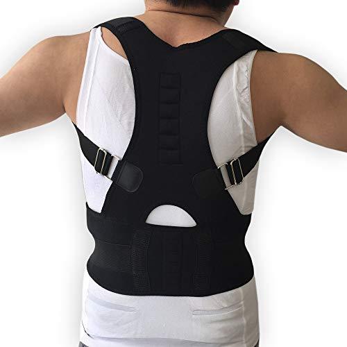 JIUYUE Corset Adulto Espalda Corsé Ortopédico Volver Postura Corrector Chaleco Columna de Soporte Lumbar Volver Postura Corrección Vendaje para Hombres Mujeres (Color : Black, Size : XXL)