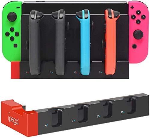 Gamedealer Ladestation Ladegerät 4in1 passend für Nintendo Switch Joy-Con Ladedock mit visueller Ladeanzeige Versand aus Deutschland