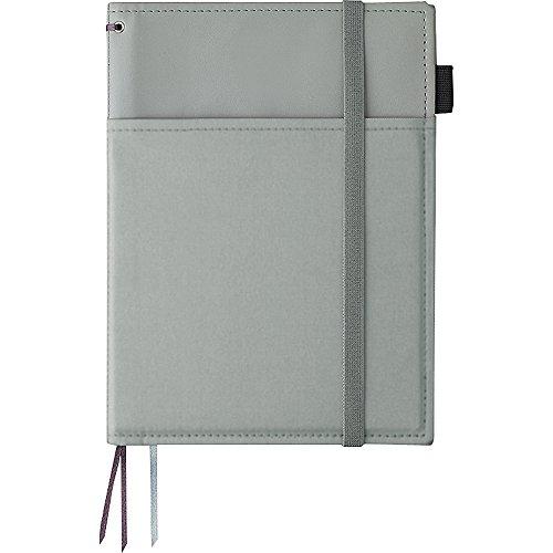 コクヨ ノートカバー 手帳 システミック リングノート対応 A5 レザー調 灰 50枚 ノ-V685B-M