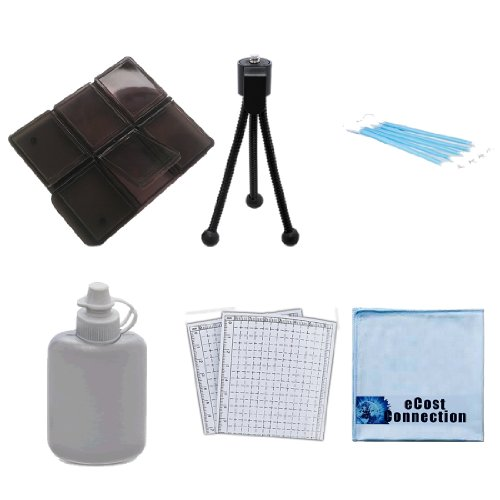 ecost memory cards Complete Deluxe Starter Kit w/ 6pc SD Memory Card Case & More For LCD Cameras Screens and Lenses