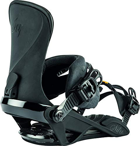 Nitro Snowboards Damen IVY '20 All Mountain Freestyle Freeride Bindung Snoboardbindung Snowboardbindung, Ultra Black, S/M