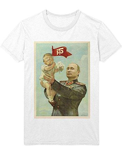 T-Shirt Donald Trump Putin Praising Trump D450010 Weiß L