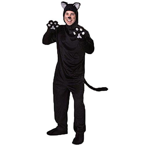 Simmia Costume cosplay gatto cosplay in pelliccia coppia costumi orso nero, modelli da uomo, S