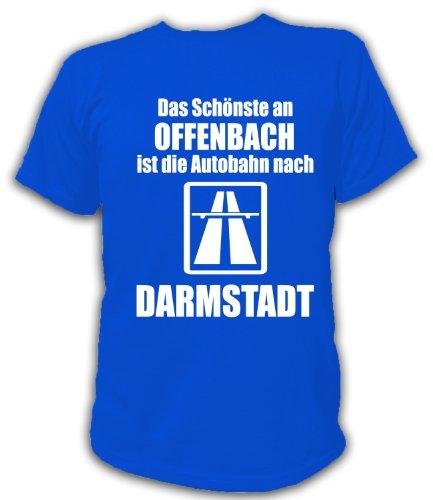 Artdiktat T-Shirt Anti Offenbach Pro Darmstadt Unisex, Größe XXL, blau