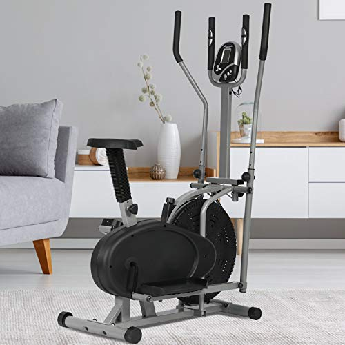 BestMassage Elliptical Trainer Elliptical Machine Exercise Bike 2 in 1 Cross Cardio...