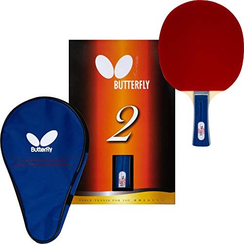 ping pong paddle butterflies 2 Butterfly B201FL Shakehand Table Tennis Racket | China Series | Racket and Case Set Offering Good Speed And More Spin | Recommended For Beginning Level Players