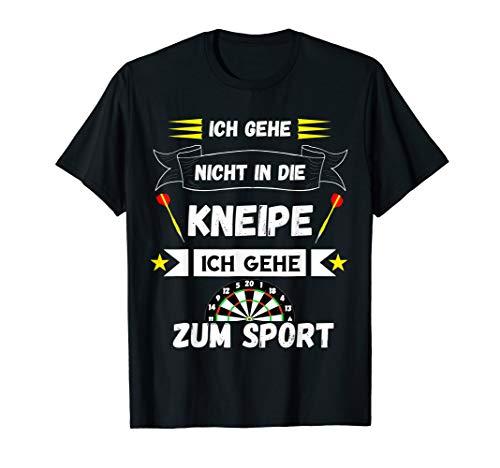Darts Dartspieler Lustiger Kneipe Sport Spruch T-Shirt