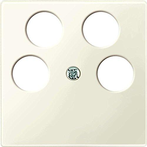 Merten 296544 centrale plaat voor Ankaro 4-voudige antenne-contactdozen, wit glanzend, systeem M