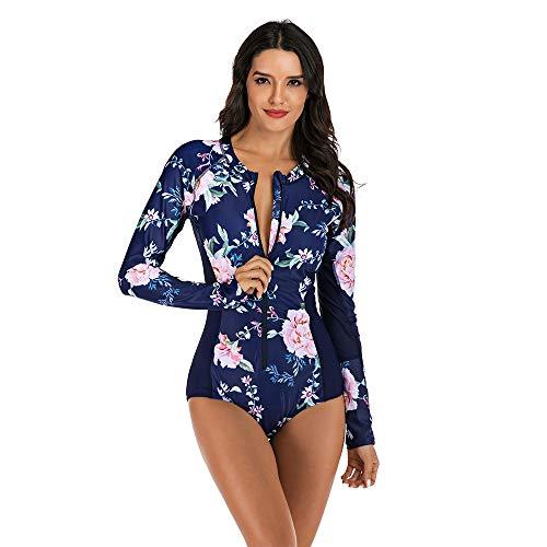 Muta da sub femminile Fortemente di impermeabile delle donne di alta elasticità manica lunga Siamese Muta adatta for il nuoto e vacanza al mare Surf Swimsuit Swimwear ( Color : Dark blue , Size : M )