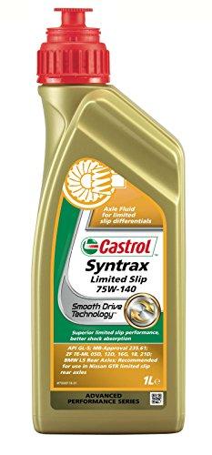 Castrol 18217160 Syntrax - Fluido sintético de ejes para diferenciales de deslizamiento limitado (75W-140, 1 l, recomendado para vehículos de alto rendimiento)
