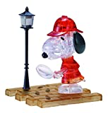 Bepuzzled Original 3D Crystal Jigsaw Puzzle - Detective Snoopy Assembly Brain Teaser, Fun Yet Challenging Peanuts Model Toy Gift Decoration for Adults & Kids Age 12 & Up, 34Piece, (Level 1)