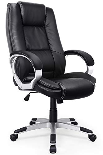 IntimaTe WM Heart High-Back Executive Office Chair, Faux Leather...