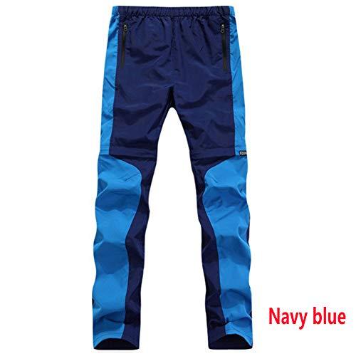 wei Verano Ligero Alpinismo Pantalones Convertible Mujeres Respirable Secado Rápido Carga Pantalones Casual UPF 50 Alpinismo Pescar Pantalones,Navy Blue,2XL