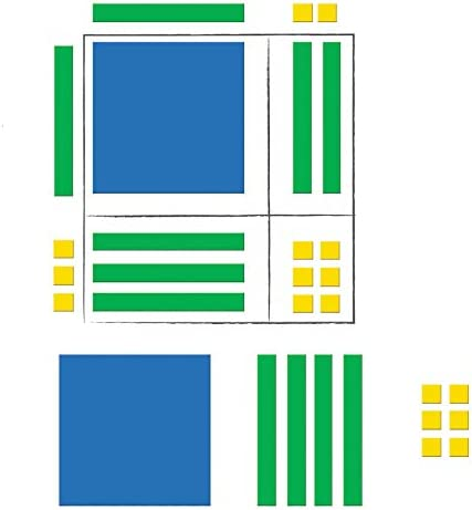 Learning Resources Magnetic Algebra Tiles Algebraic Math Skills Magnets for Any Magnetic Surface product image