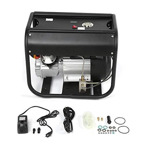 Hogedruk elektrische luchtpomp, 110 / 220V 40Mpa 4500PSI dubbele cilinder hogedruk waterkoeling elektrische luchtpomp (EU)