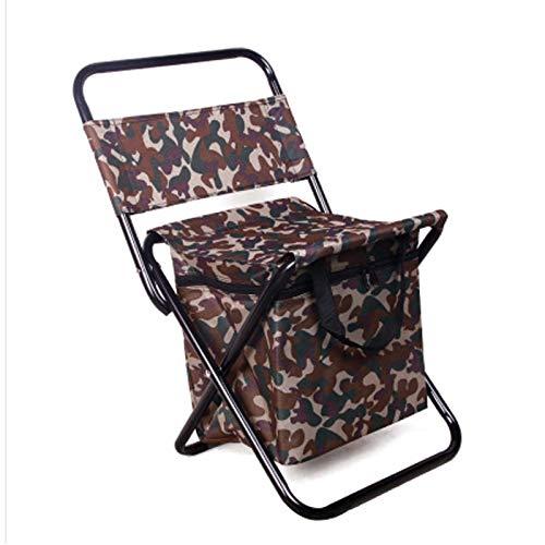 CuiCui Leichte Compact Folding Camping Rucksack Stuhl, Mit Rucksack Und Aufbewahrungstasche in Einem Beutel for Im Freien, Lager, Picknick, Wandern,D10