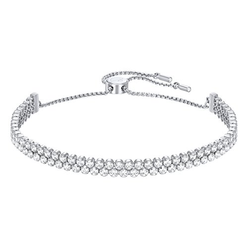 Swarovski Sparkling Dance Collection Women's Tennis Bracelet, White Crystals with Rhodium Plated Chain
