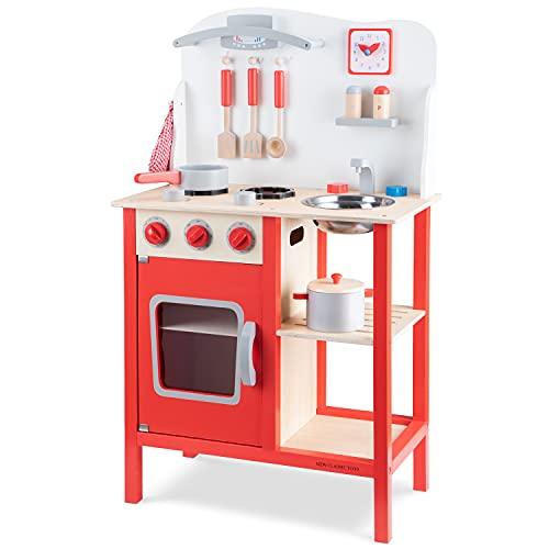 New Classic Toys Cuisine Bois Jeu d'Imitation Éducative pour Enfants Rouge, 1055