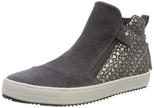 Geox Mädchen J Kalispera Girl F Hohe Sneaker, Grau (Dk Grey C9002), 28 EU