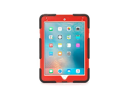 Griffin GB42576 Survivor All-Terrain Rugged PET Protective Case for Apple iPad Air 2 - Red/Smoke