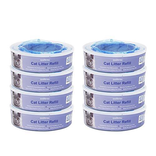 Signstek Nachfüllkassette für Litter Locker II Katzenstreu Entsorgungseimer Cat Litter Disposal System Nachfüllkassetten (8er Pack)