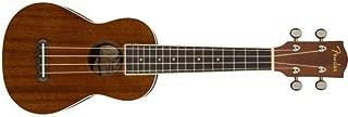 """Fender Seaside Soprano Ukulele, 16 Frets, """"C"""" Shape Neck, Laminated Hardwood Fingerboard, Satin, Natural"""