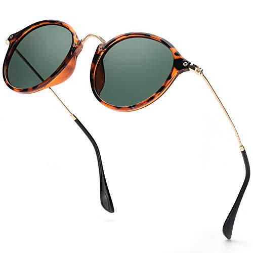 Gafas de sol redondas estilo retro con marco estilizado de Elivwr
