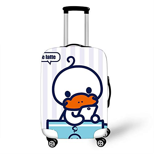 Elastic Luggage Cover, CNNINHAO 3D Print Trolley Case Protective Travel Suitcase Anti Scratch Dustproof Resistant Case Trolley Skin Protector Elasticized Washable (Platypus 3,S (18-20inch))