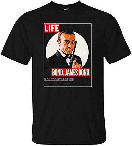 IGJMOD James Bond, Sean Connery, Dr. No, Goldfinger, Thunderball, 007, Life Magazine Mens T Shirt