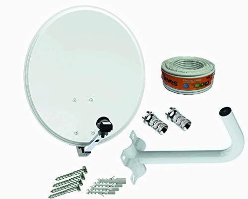Kit Antena parabólica 60cm Tecnovoz + Soporte Pared + Rollo