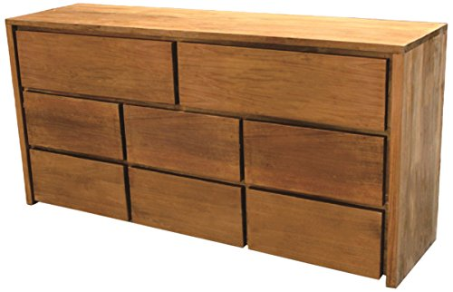 NES Furniture Simplie Dresser Fine Handcrafted Solid Teak Wood, 59 inches Natural