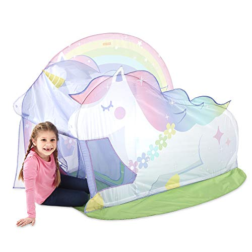 Basic Fun Playhut Unicorn Hut Pop-Up Play Tent for Indoor or Outdoor Play-Great Gift for Girls