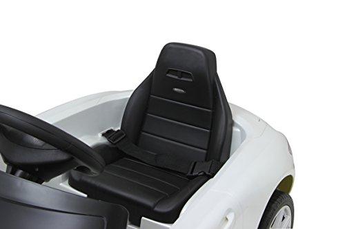 RC Auto kaufen Kinderauto Bild 3: Jamara 404610 - Ride-on Mercedes SLS AMG weiß 40MHz 6V – Kinderauto, leistungsstarker Motor und Akku, bis zu 90 Min Fahrzeit,Ultra-Gripp Gummiring am Antriebsrad,Anschluss von Audioquellen,Sound,Licht*