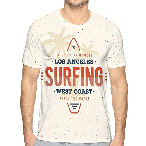 Men's Heather Cotton Poly T-Shirt Surfing los Angeles Surf Graphic Apparel Print Design