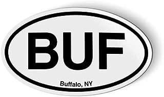 Stickers & Tees BUF Buffalo NY New York Oval - Car Magnet - 5
