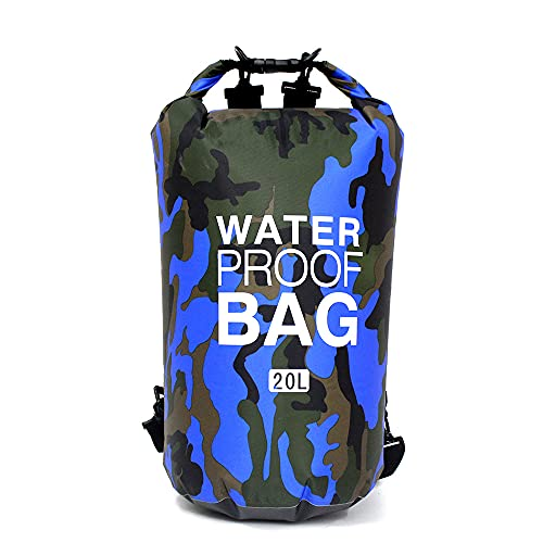 Chnrong Bolsa impermeable de 20 l ligera bolsa seca a la deriva con correa de hombro ajustable larga bolsa de playa portátil para drifting/boating/kayaking/pesca/rafting/natación/camping