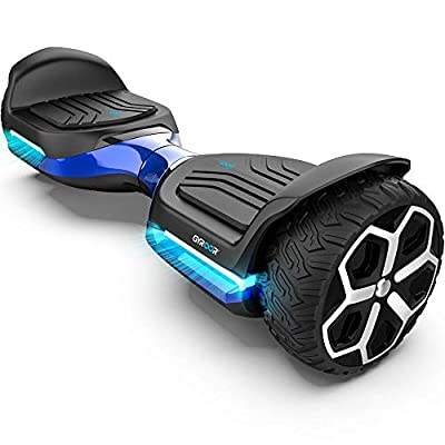 """Gyroor T581 Hoverboard 6.5"""" Off Road All Terrain Hoverboard with Bluetooth Speaker and Two-Wheel Self Balancing Hoverboard with UL2272 Certified (Blue)"""