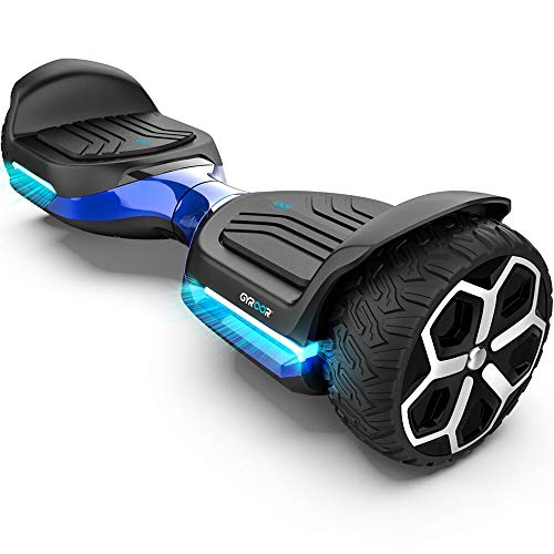 "Gyroor T581 Hoverboard 6.5"" Off Road All Terrain Hoverboard with Bluetooth Speaker and Two-Wheel Self Balancing Hoverboard with UL2272 Certified (Blue)"