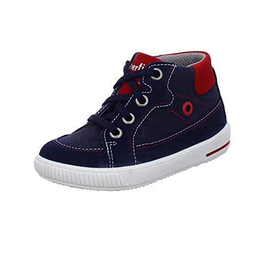 Superfit Baby Jungen Moppy Lauflernschuhe Sneaker, Blau (Blau/Blau 80), 24 EU