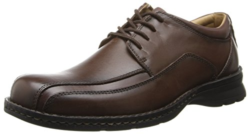 Dockers Men's Trustee Leather Oxford Dress Shoe,Dark Tan,11 M US