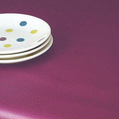 Nappe Ronde anti-tache imperméable 160cm Uni Prune par Fleur de Soleil - coton enduit - sans solvant - sans phtalate - 100% fabrication française