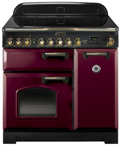 Falcon RANGECOOKER CLASSIC DELUXE 90 tiefrot/mess. - Induktion Grill/Multif.ofen/HL Ofen