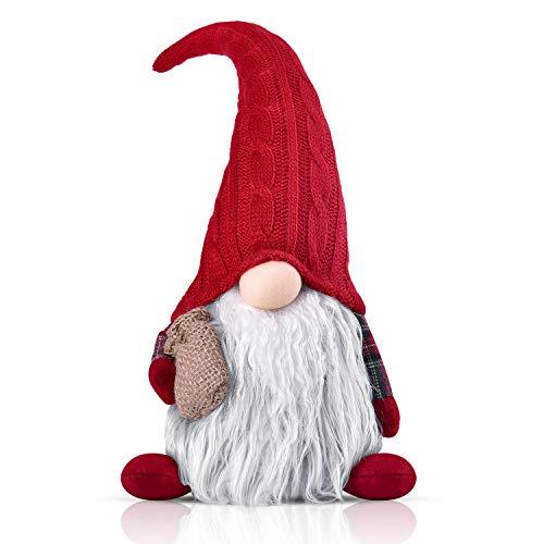 RANSENERS 35cm Handgemachte Weihnachten Deko Wichtel Figuren süße Weihnachtsmann Santa Tomte Gnom, Skandinavischer Zwerg Geschenke für Kinder Haus Weihnachten Ostern