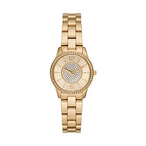 Michael Kors Damen Analog Quarz Uhr mit Edelstahl Armband MK6618